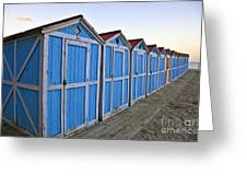 Mondello Beach Cabanas Greeting Card
