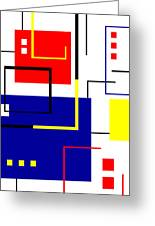Mondrian Redux Greeting Card by Tara Hutton