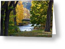 Monet Bridge Greeting Card