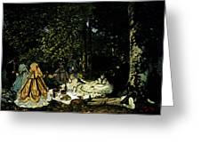 Monet Dejeuner Sur L Herbe A Chailly Greeting Card