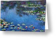 Monet: Waterlilies, 1906 Greeting Card