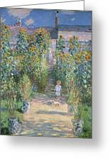 Monet's Garden At Vetheuil Greeting Card