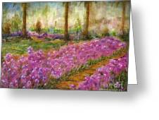 Monet's Garden In Cannes Greeting Card