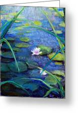 Monets Garden Greeting Card