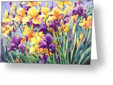Monet's Iris Garden Greeting Card