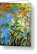 Monet's Irises Greeting Card