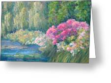 Monet's Pond Greeting Card