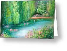 Monet's Pond Greeting Card