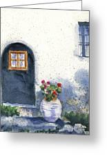 Monevasia Doorway Greeting Card