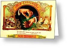 Money Cigar Label Greeting Card