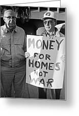 Money For Homes Not War Anti Gulf War Rally Tucson Arizona 1991 Greeting Card