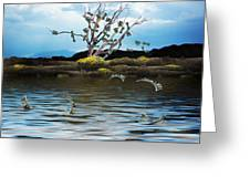 Money Tree On A Windy Day Greeting Card