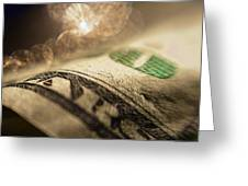 Money With Bokeh Greeting Card
