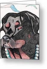 Mongo Greeting Card by Loretta Nash