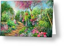 Monica's Garden Greeting Card