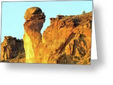 Monkey Face Pillar At Smith Rock Greeting Card