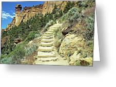 Monkey Face Rock - Smith Rock National Park, Oregon Greeting Card