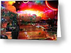 www.nospankingthemonkey.com Monkey Painted Italy On A Moon Lit Night Greeting Card
