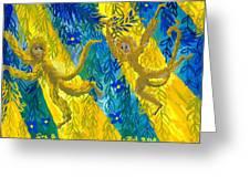 Monkeys And Sunbeams Greeting Card