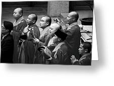 Monks Chanting - Jing'an Temple Shanghai Greeting Card