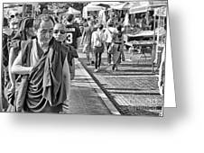 Monks Out And About Greeting Card