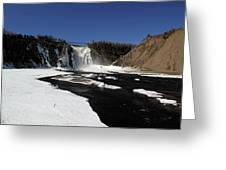 Montmorency Fall, Winter Greeting Card