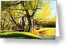 Mono Lake Garden Bridge Greeting Card