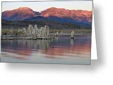 Mono Lake Sunrise 1 Greeting Card