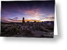 Mono Lake Sunset 5 Greeting Card