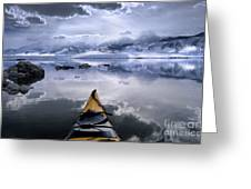 Mono Lake Winter Kayak Greeting Card by Buck Forester