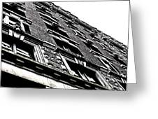 Monochromatic Facade Greeting Card