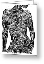 Monochromatic Nude Greeting Card