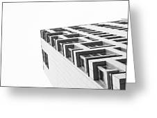 Monochrome Building Abstract 4 Greeting Card