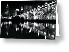 Monochrome Cleveland Greeting Card