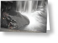 Monochrome Falls Greeting Card
