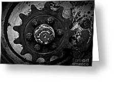 Monochrome Gear Greeting Card