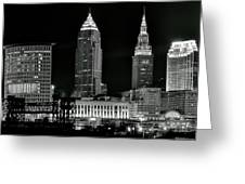 Monochrome Nightscape Greeting Card