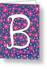 Monogram B Greeting Card