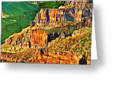Monolith North Rim Grand Canyon Greeting Card