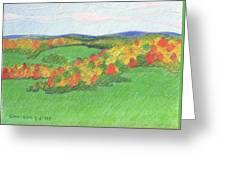 Monongalia County Autumn Greeting Card