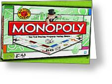 Monopoly Board Game Painting Greeting Card