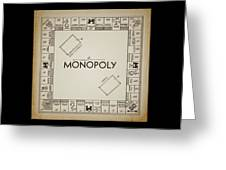 Monopoly Board Patent Vintage Greeting Card