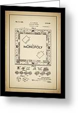 Monopoly Patent 1935 Vintage Border Greeting Card