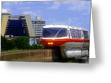 Monorail Greeting Card