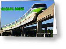 Monorail Green Wdwrf Greeting Card