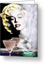 Monroe-seeing Beyond Smoke-n-mirrors Greeting Card by Reggie Duffie