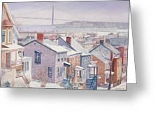 Monroe St Staten Island Greeting Card