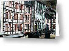 Monschau Hotel Greeting Card