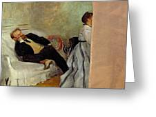 Monsieur And Madame Edouard Manet Greeting Card