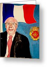 Monsieur Jean Claude Darque. Le Maire De Auchy Les Hesdin Greeting Card